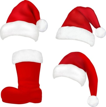362x368 Vector Christmas Hat Free Vector Download (7,692 Free Vector) For
