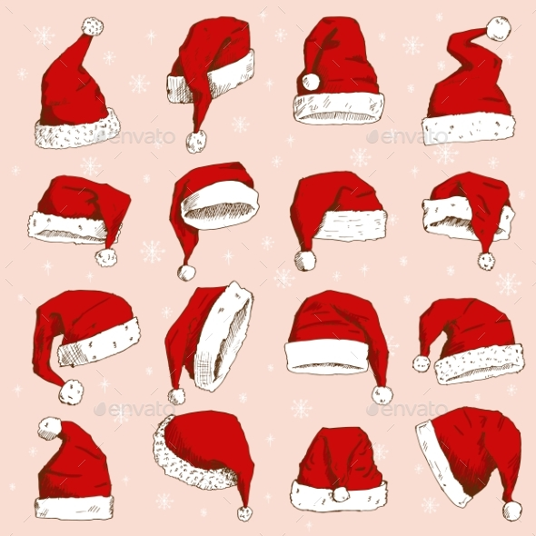 590x590 Christmas Santa Claus Hat Vector Noel Isolated By Vectoristik