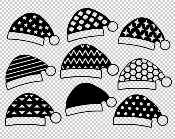 570x455 Christmas Svg Santa Hat Svg Santa Claus Caps Clipart Etsy