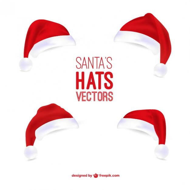 626x626 Santa Claus Hats Illustrations Vector Free Download