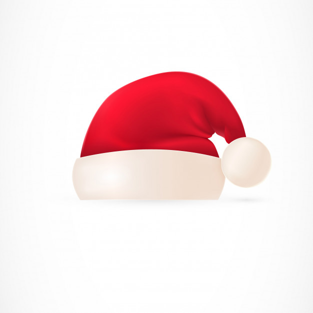 626x626 Santa Hat With Pompom Vector Free Download