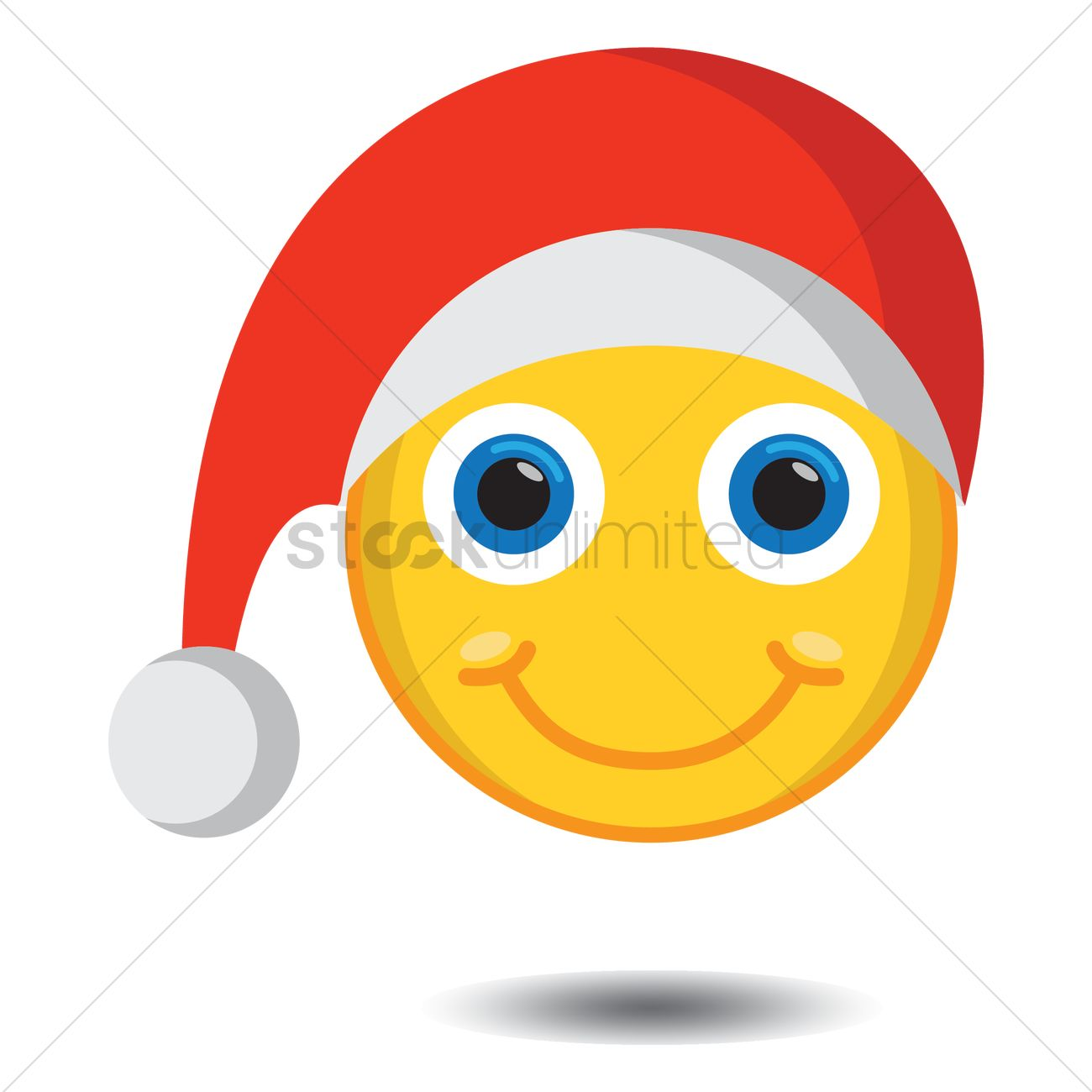 1300x1300 Smiley Wearing Santa Hat Vector Image