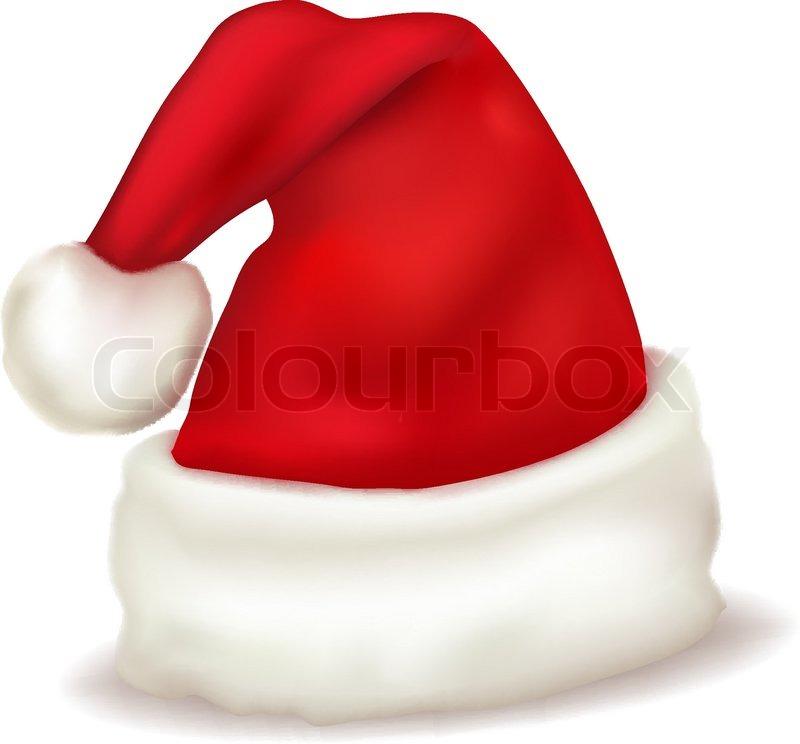 800x744 Red Santa Claus Hat. Vector. Stock Vector Colourbox
