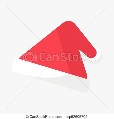 450x470 Christmas Triangle Santa Hat Vector Graphic Illustration Design.