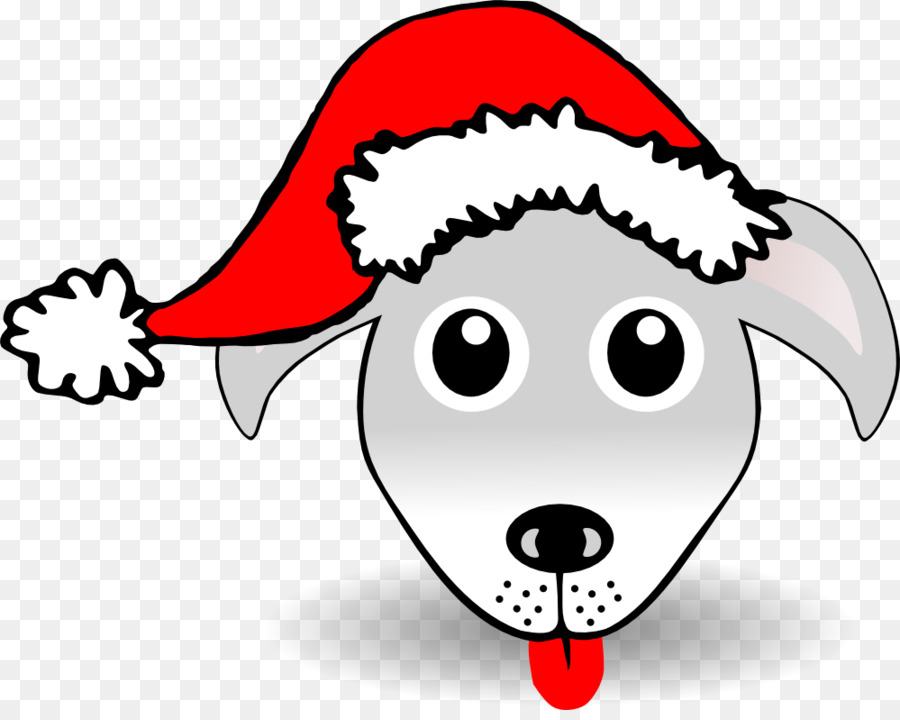 900x720 Dog In Santa Hat Clipart With Stock Vector Art 120791729 Istock