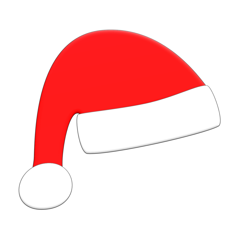 800x800 Dog With Santa Hat Clipart Transparent
