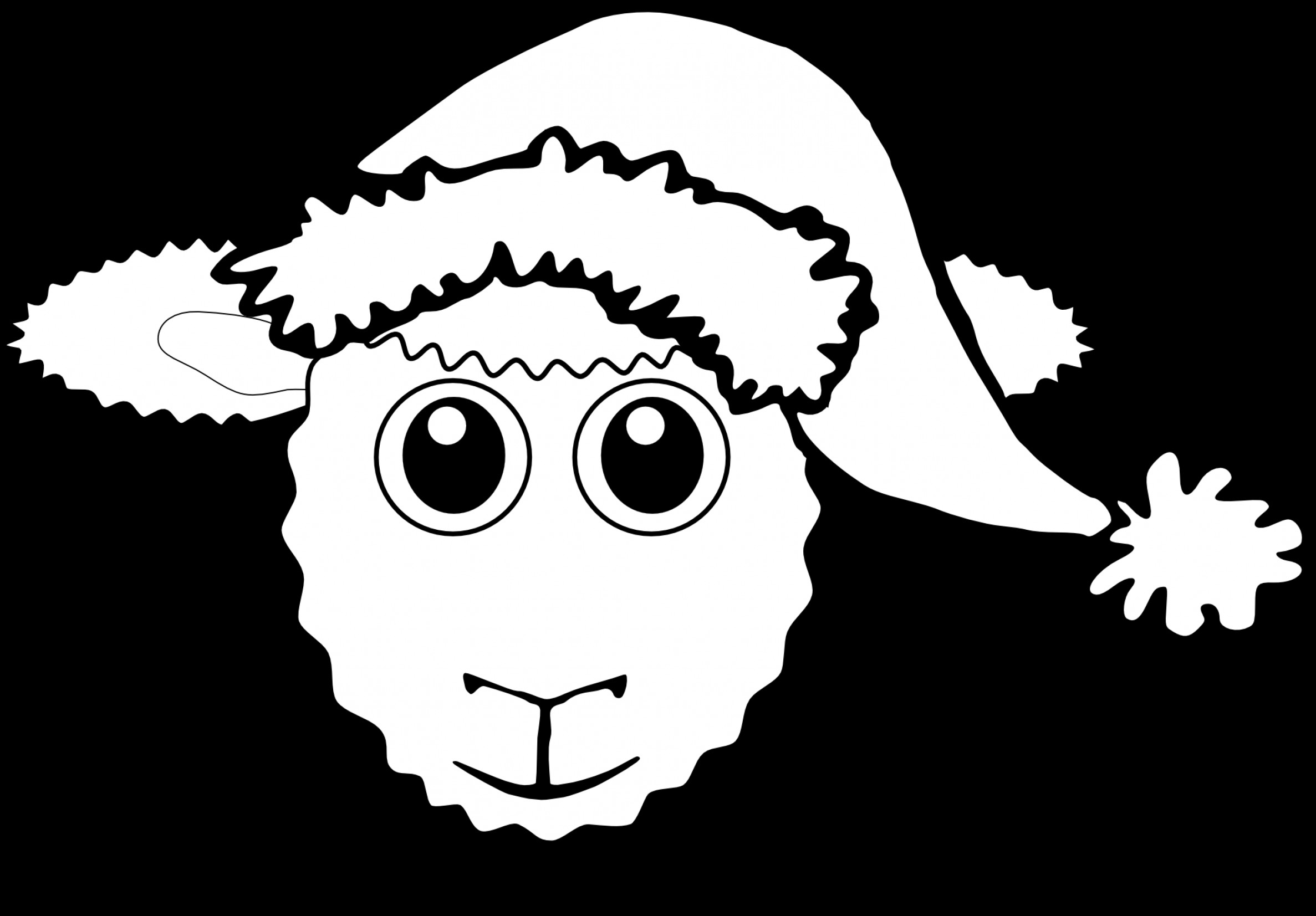 2374x1653 Santa Hat Vector Image Black And White Arenawp