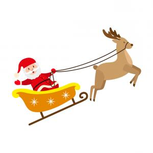 300x300 Santa Claus Riding Reindeer Christmas Sleigh Vector Arenawp