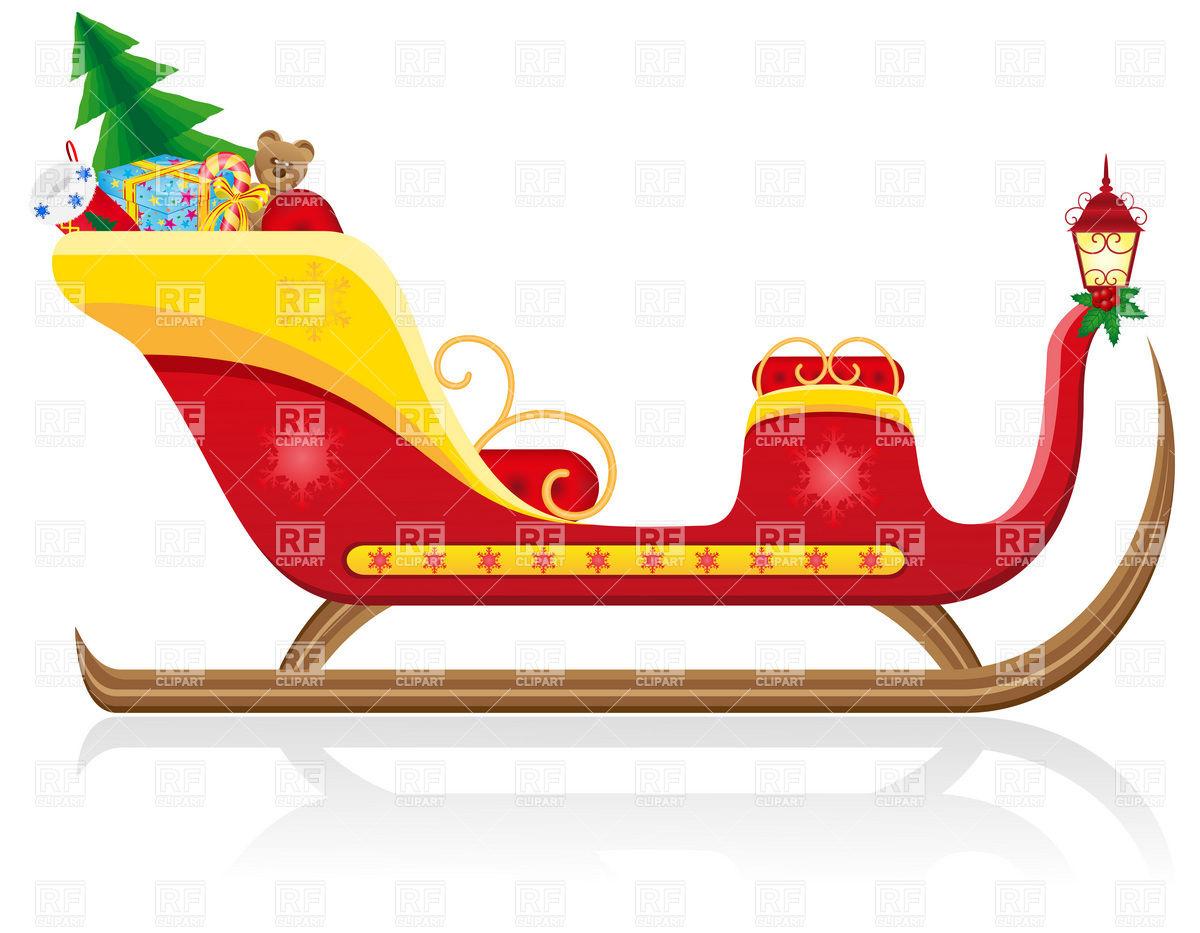 1200x933 Santa Claus Sleigh Vector