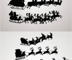 235x196 Santa Claus On A Sleigh Vector. Free Download!! Scroll Saw