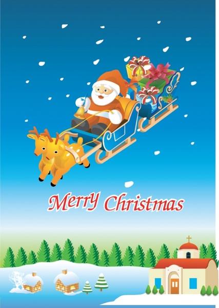 427x600 Santa Claus Sleigh Vector Free Vector In Adobe Illustrator Ai