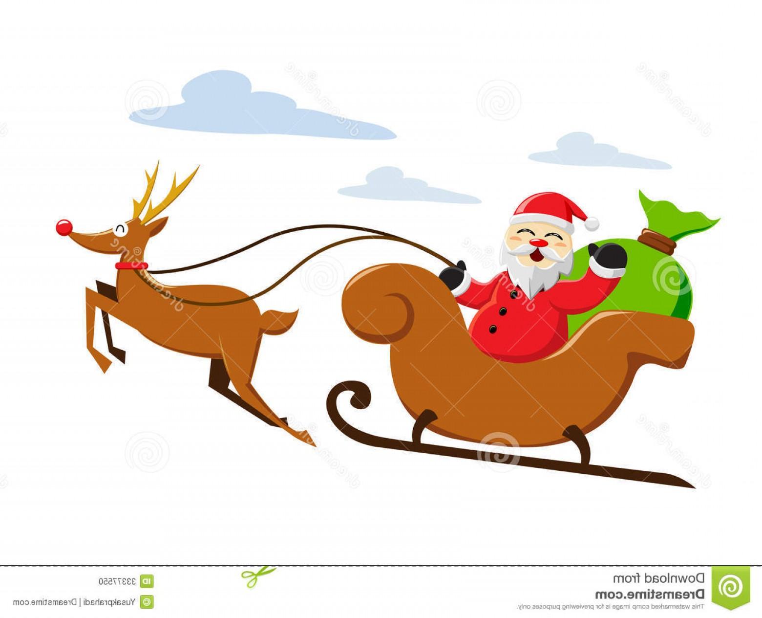 1560x1264 Stock Photo Santa Claus Riding Snow Sleigh Vector Illustration