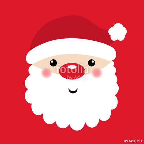 500x500 Cute Santa Claus With Red Background Vector Illustration. Eps 10