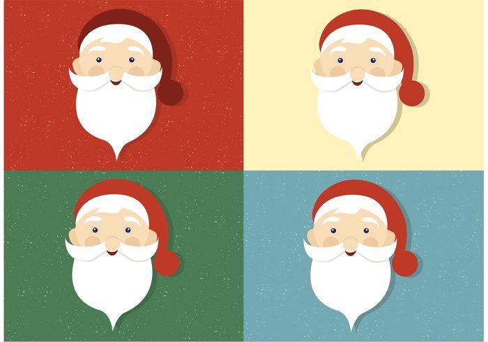 700x490 Free Vector Santa Claus Faces