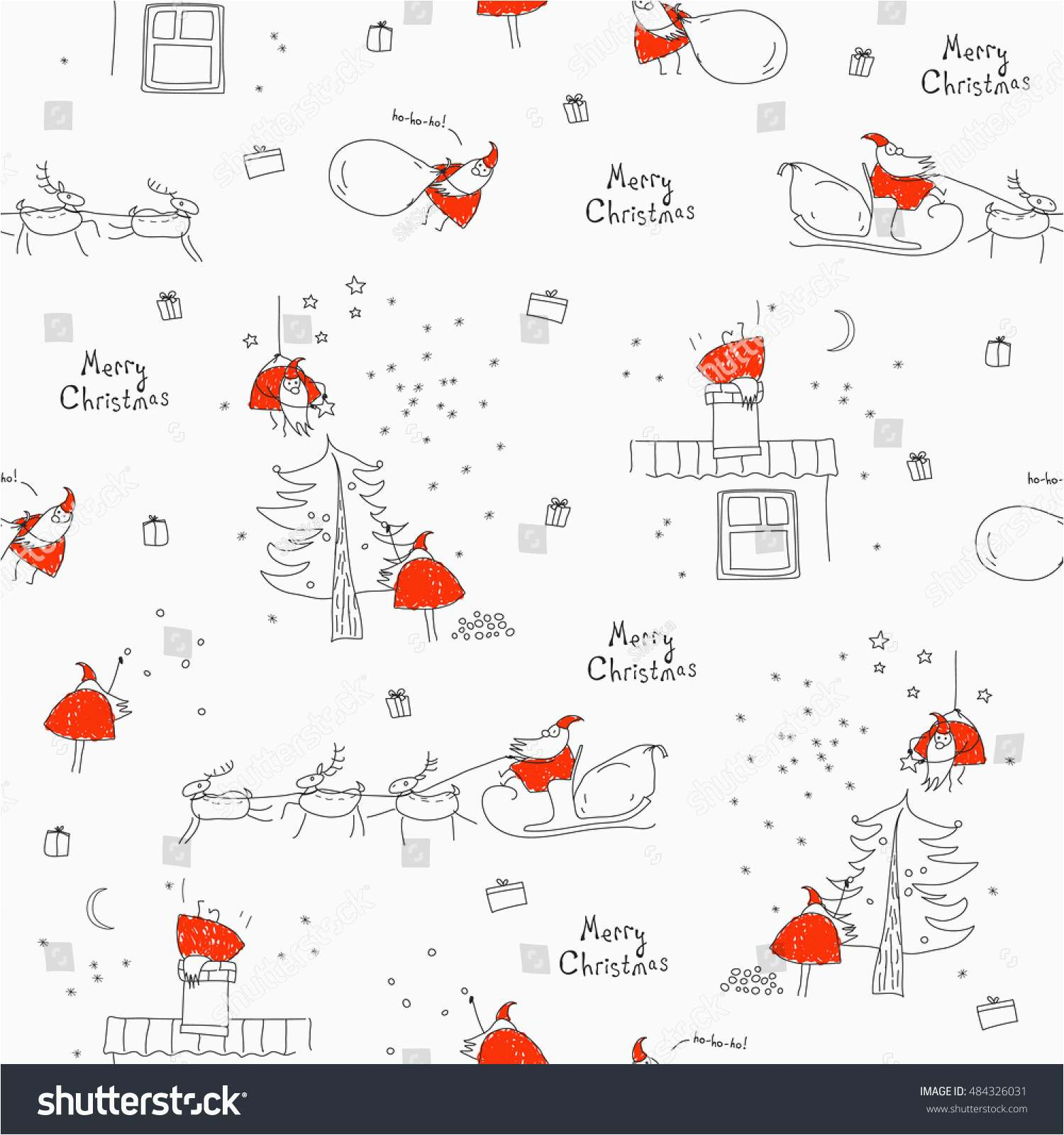 1500x1600 Merry Christmas Santa Claus Top Search Seamless Pattern Merry