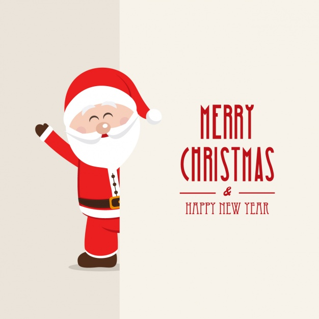 626x626 Merry Christmas Background With A Smiling Santa Claus Vector