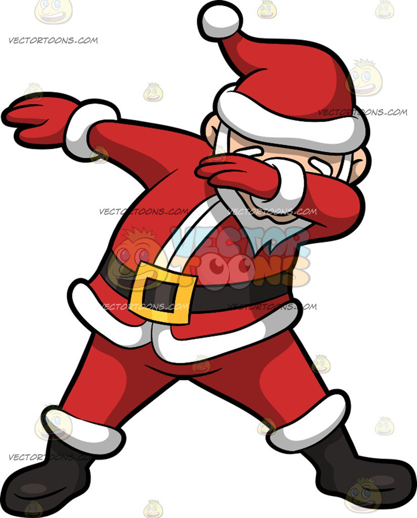824x1024 A Dabbing Santa Claus Clipart By Vector Toons