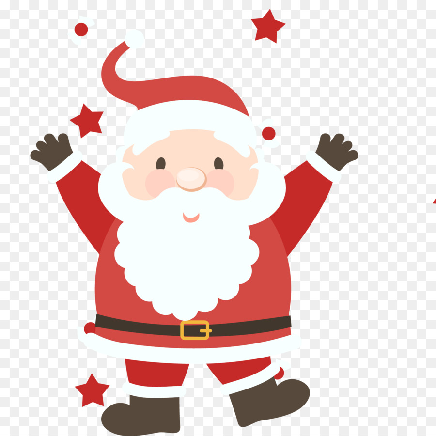900x900 Santa Claus Christmas Illustration