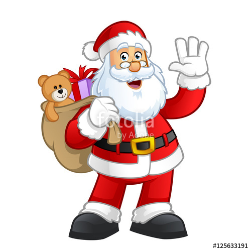 500x500 Santa Claus Character Vector Illustration Design Stock Image And