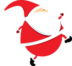 300x274 Cartoon Santa Claus Dress Vector Royalty Free Stock Image