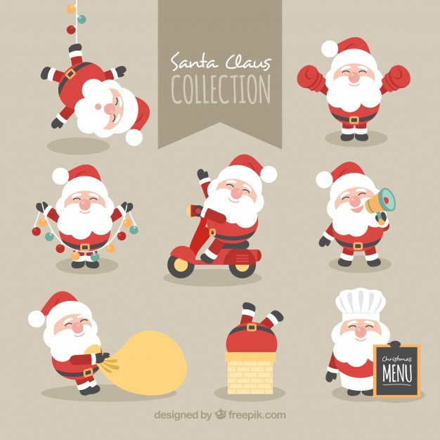 626x626 Collection Of Lovely Character Of Santa Claus Vector Free Download