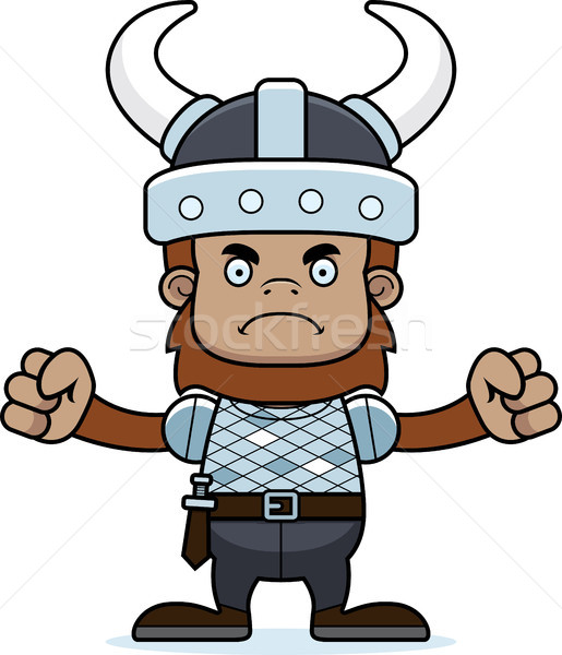 515x600 Cartoon Angry Viking Sasquatch Vector Illustration Cory Thoman