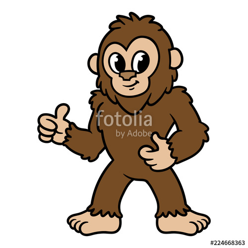 500x500 Cartoon Sasquatch Or Bigfoot Stock Image And Royalty Free Vector