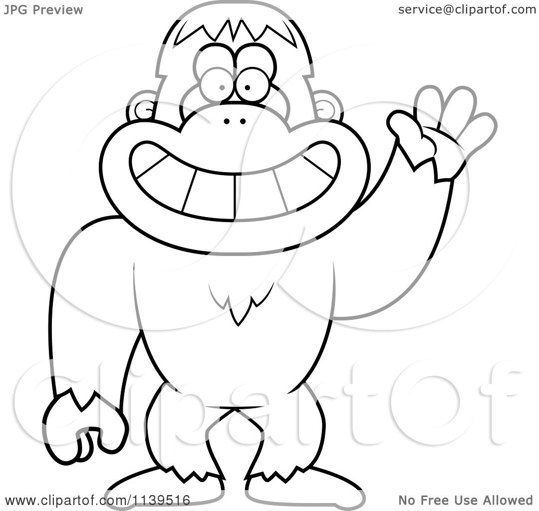 1080x1024 Royalty Free (Rf) Sasquatch Clipart, Illustrations, Vector