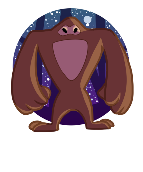 500x600 19 Sasquatch Vector Head Huge Freebie! Download For Powerpoint
