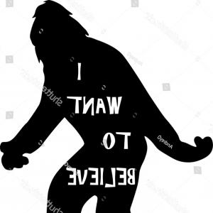 300x300 Vector Illustration Cartoon Sasquatch Walking Lazttweet