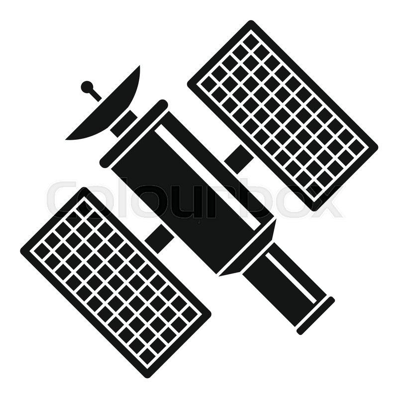 800x800 Space Satellite Icon. Simple Illustration Of Space Satellite