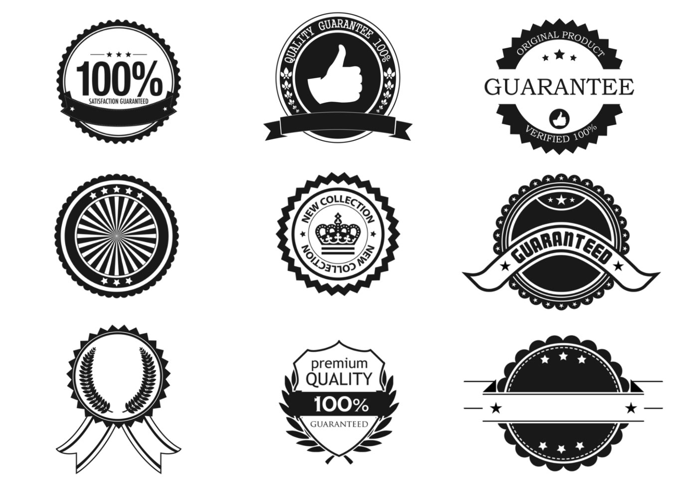 1400x980 Business Badge And Label Vector Pack