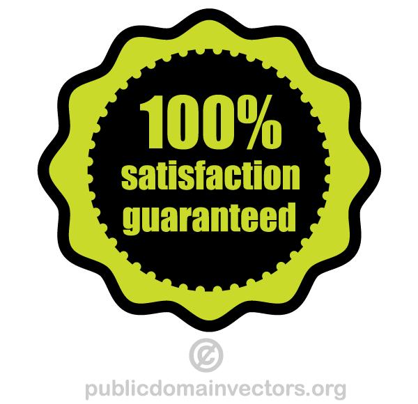 600x580 Free 100% Satisfaction Guaranteed Vector 123freevectors