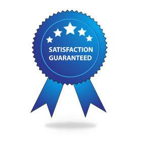 282x282 Satisfaction Guaranteed Badge