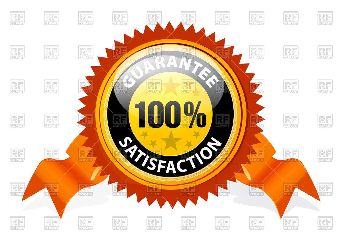 1200x847 100% Satisfaction Guaranteed Banner With Ribbon Vector Image