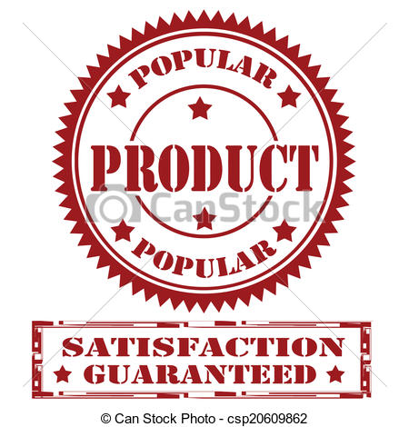450x470 Set Of Stamps With Text Popular Product And Satisfaction