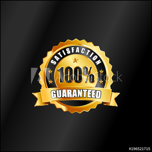 500x500 Satisfaction Guaranteed Vector Badge In Gold Color
