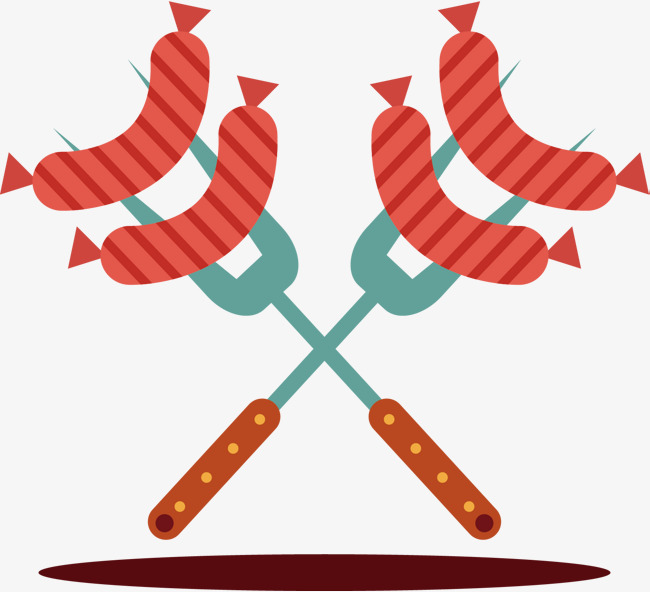 650x592 Pork Sausage Vector, Hand, Fork, Sausage Png And Vector For Free