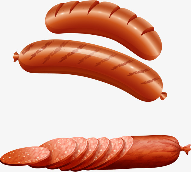 650x585 Vector Hand Painted Sausage, Vector, Hand Painted, Meat Products