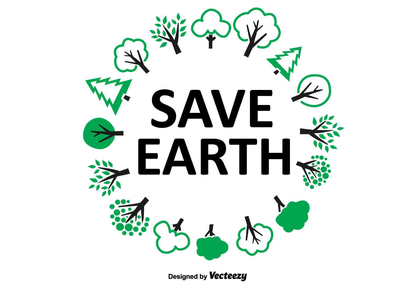 1400x980 Save Earth Tree Wreath
