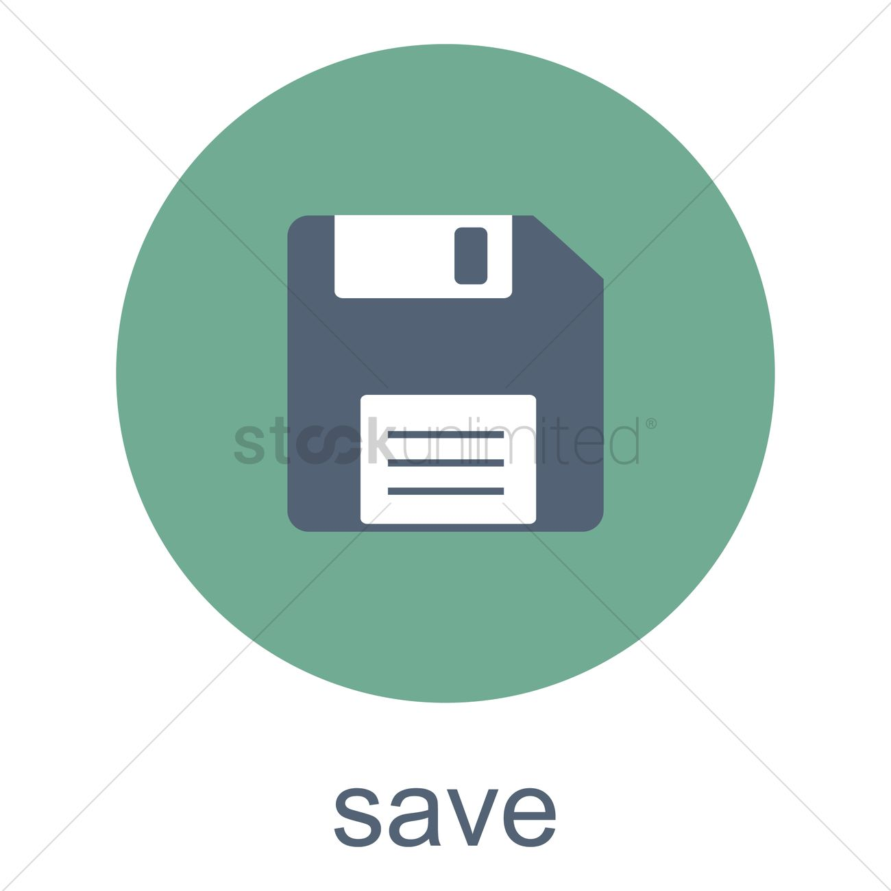 1300x1300 Save Button Vector Image