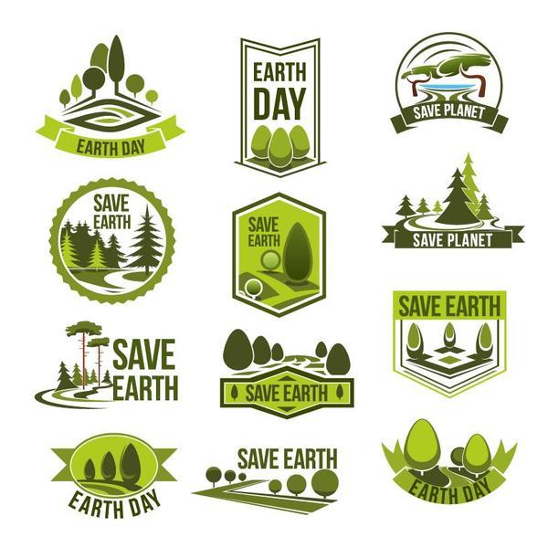600x588 Save Earth Logos Design Vector Free Download