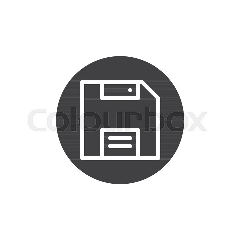 800x800 Diskette, Save Icon Vector, Filled Flat Sign, Solid Pictogram