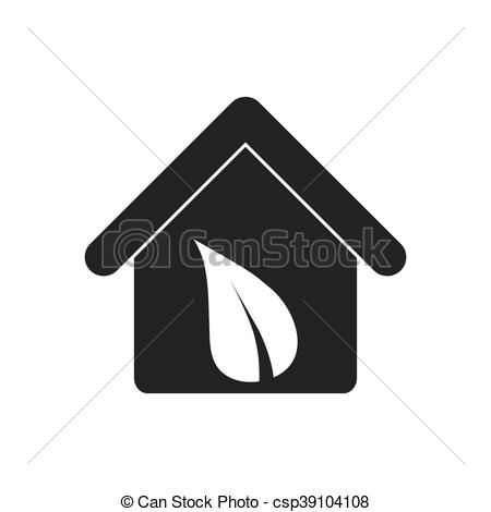 450x470 House Leaf Ecology Save Icon. Vector Graphic. House Leaf Ecology