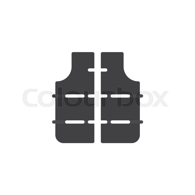 800x800 Lifejacket Icon Vector, Filled Flat Sign, Solid Pictogram Isolated