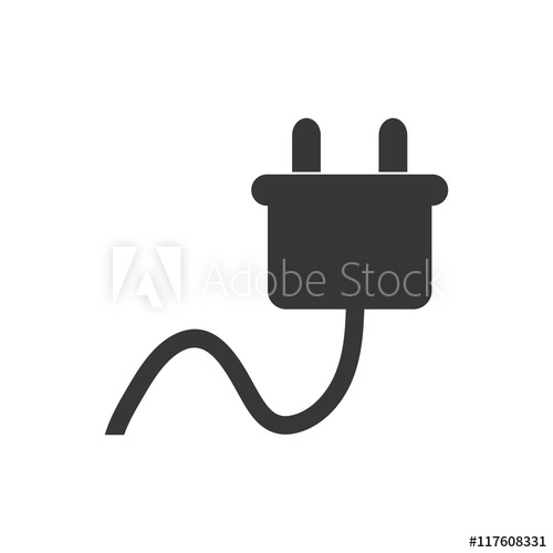 500x500 Plug Energy Ecology Save Icon. Isolated And Flat Illustration