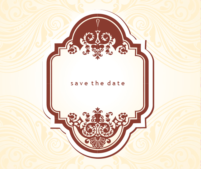646x543 Free Vintage Save The Date Vector Vector Art Amp Graphics