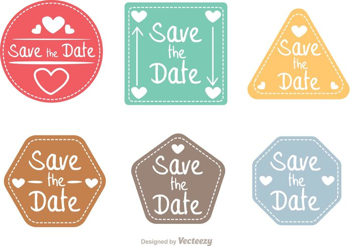 700x490 Save The Date Shapes Vector Pack
