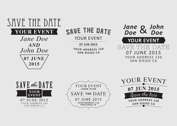 572x407 Save The Date Vector Free Vector Download In .ai, .eps, .svg Format