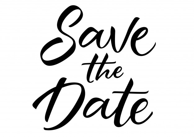 626x443 Save The Date Lettering Vector Free Download